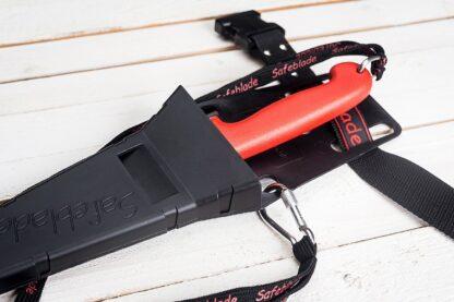 Safeblade Safety Lanyard on Holster